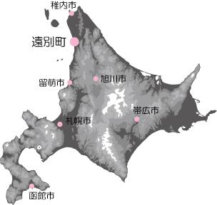 遠別 北海道地図